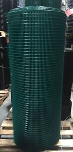 5x1 16g 56 x100 Green Pvc Coated Galvanized Wire Mesh Rolls