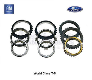 T5 5 Speed Transmission Synchro Kit World Class New Gm Chevy Ford Fiber Lined