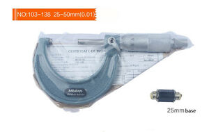 Mitutoyo 103 138 Outside Micrometer 25 50mm 0 01mm New And Oringinal