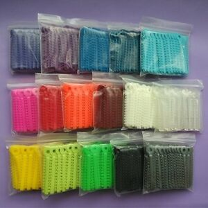 10 Packs Dental Ligature Ties Orthodontic Elastic Rubber Bands 16 Colors Rings