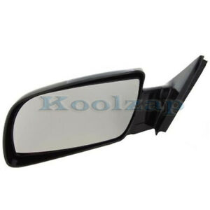 Chevy C k Pickup Truck Full Size Rear View Door Mirror Manual Black Driver Side