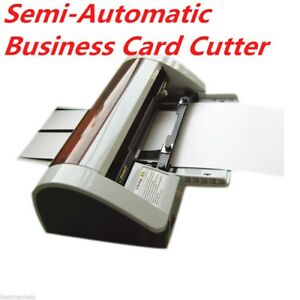 Hot sale Semi automatic Business Card Cutter 90 X 50mm Ac220v Right Angle