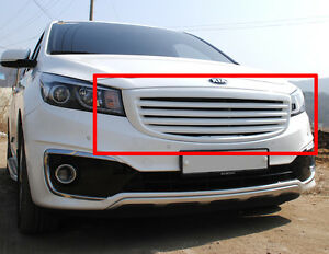 Carbon Wrapping Tuning Hood Grille 1p For 15 16 Kia Sedona All New Carnival