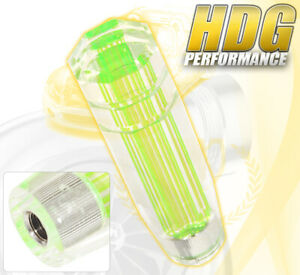 For Nissan 150mm Clear 3d Style Long Extended Shift Knob Track Unit Neon Green
