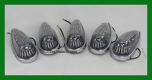 Pick up Cab Roof Clearance Teardrop Amber Clear Led Lights Set Of 6
