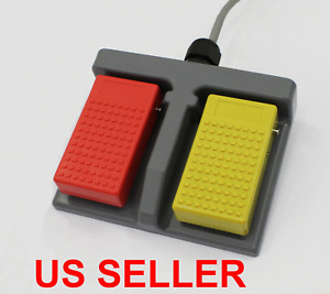 New Plastic Double Action Foot Switch Pedal D2