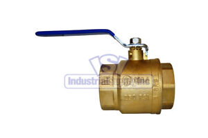 3 Full Port Brass Ball Valve Npt Threaded