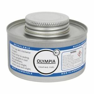 Olympia Liquid Chafing Fuel Food Warmer Easy To Open And Reseal 4 Hour Tins