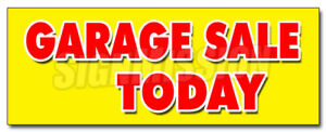 48 Garage Sale Today Decal Sticker Household Tools Furniture Antique Clothes