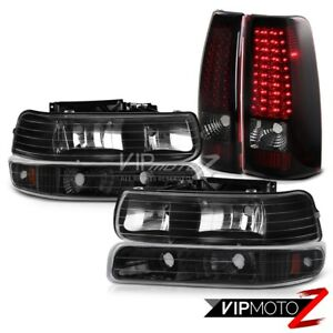 Chevy Silverado 99 02 1500 2500 Bumper Headlights Smoke Red Brake Lamp Taillight