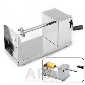 Manual Twisted Spiral Potato Cutter French Fry Cutter Vegetable Slicer