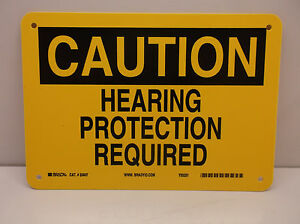 Caution Sign Hearing Protection Must Be Worn 10 X14