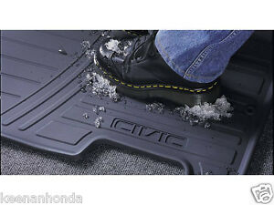 Genuine Oem Honda Civic Black Front All Season Floor Mat Set 2001 2005 Mats