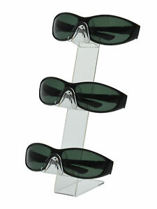Lot Of 24 Clear 3 Tier Slant Back Sunglasses Eyeglass Counter Top Display Stand