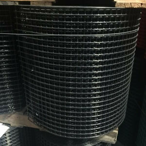 Welded Wire Mesh 1x1 10 Gauge 24 x100 Black Pvc Coated Rolls