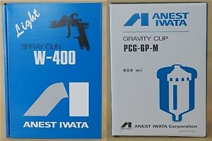 Anest Iwata W 400 122g 1 2mm Gravity Spray Gun With 600ml Cup New From Japan