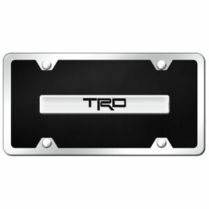 Trd Chrome Black Acrylic Front License Plate Toyota Racing Development Novelty