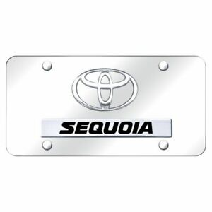 Toyota Sequoia Chrome Front License Plate Trd Novelty Logo Stainless Steel