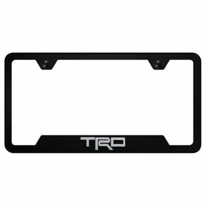 Toyota Trd Laser Etched Black License Plate Frame Stainless Steel Logo