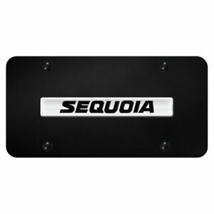 Toyota Sequoia Name Chrome Black Front License Plate Stainless Steel Trd Novelty
