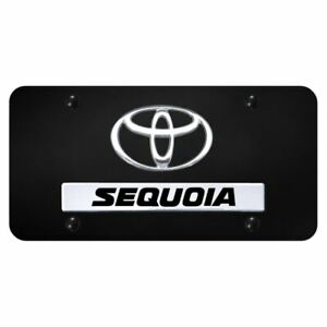 Toyota Sequoia Chrome Black Front License Plate Trd Novelty Logo Stainless Steel