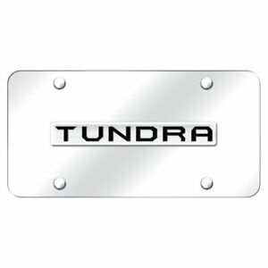 Toyota Tundra Name Chrome Front License Plate Stainless Steel Trd Novelty