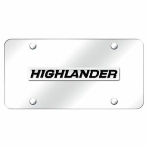 Toyota Highlander Logo Chrome Front License Plate Stainless Steel Trd Novelty