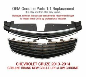 Oem Auto Parts Front Grille Upr low Chrome For Chevrolet 2013 2014 Cruze