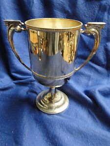 Sterling Silver Trophy Cup Fluted Design Marked Chester 1928 Retro Vintage