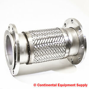 6 Braided Pump Connector Floating Flange 1 2t 304 Stainless Steel