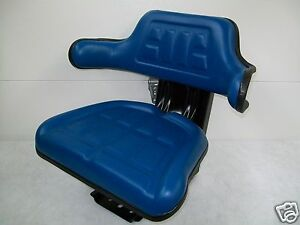 Tractor Seat Ford Blue waffle Farmtractors Universal Fit spring Suspension id