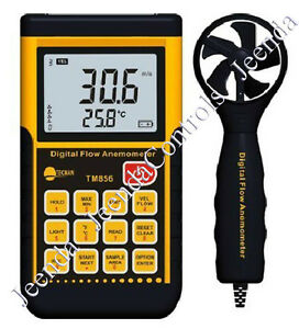 Smart Sensor Ar856 Air Flow Anemometer Infrared Temperature Meter Usb Software