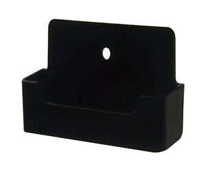 Lot Of 1000 Black Acrylic Single Pocket Wall Mount Business Card Holder Display