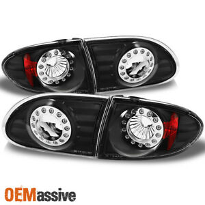 Fit 95 02 Chevy Cavalier Led Black Tail Lights Repalcement 4pcs L r