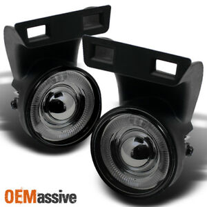 Fits Smoked 94 01 Dodge Ram 1500 2500 3500 Halo Projector Fog Lights Left Right