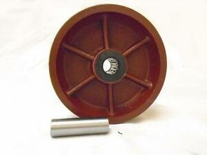 6 X 2 V groove 7 8 Ductile Steel Caster Wheel 1500 Lbs