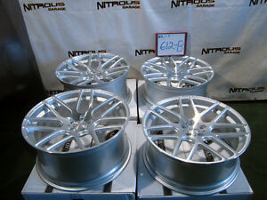 22 Concave Silver Mesh Bentley Continental Gt Flying Spur Stagger Wheels W612b