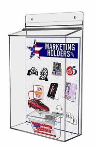 Lot Of 6 Outdoor 8 5 X 11 X 3 d Brochure And Business Card Real Estate Holder