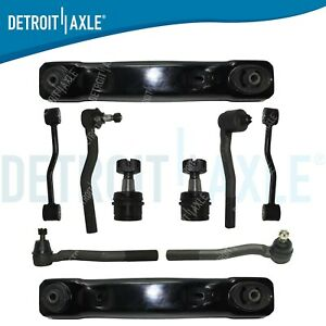 For 1999 2004 Jeep Grand Cherokee Front Lower Control Arm Ball Joint Tie Rod Kit