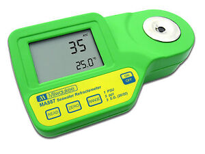 Digital Salinity Refractometer With Automatic Temperature Compensation Lcd