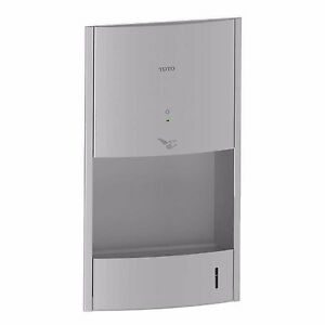 Toto Clean Dry Hdr111 ss 110v 120v Stainless Steel Recessed Hand Dryer