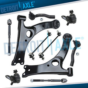 Front Lower Control Arm W Ball Joint Tierod Sway Bar For 2003 08 Toyota Corolla