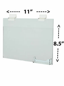 Lot Of 24 Slat Wall 11 w X 8 5 h Wall Mount Ad Frame Sign Holder Bc Pocket