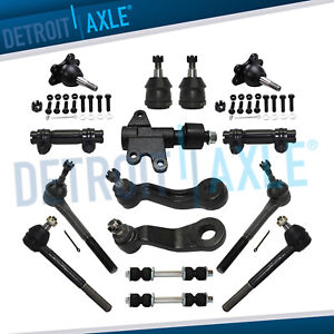 Front Brand New 15pc Suspension Kit For Chevy C1500 Tahoe Gmc C2500 Yukon 2wd