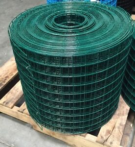 Pvc Coated Welded Wire Mesh 1 5x1 5 16 G 15 x150 Green gaw