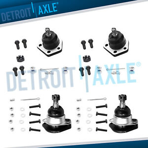 4x4 4wd 4pc Set Front Upper Lower Ball Joints For Chevy Blazer Gmc Jimmy