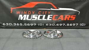1954 56 Oldsmobile 88 Holiday 15 Spinner Flipper Waffle Rat Hot Rod Hubcaps 2