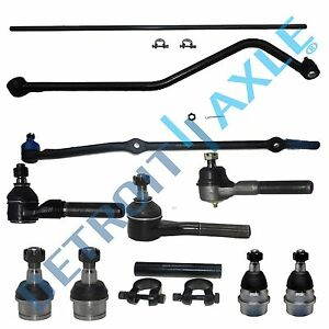 Upper Lower Ball Joint Tierod Drag Center Link Kit Jeep Grand Cherokee 4 0l 4wd