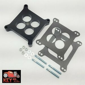 1 Ported Center Phenolic Carburetor Spacer Chevy Ford Holley Carter Demon 350