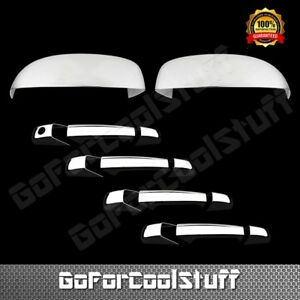 For Chevy Suburban Tahoe Avalanche 2007 2013 Chrome Mirror Door Handle Cover